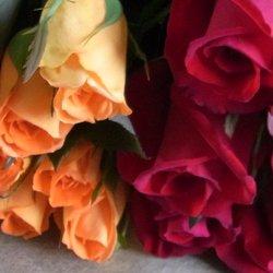 追加用のバラ1本(ローズ・デュオ 赤&オレンジ)