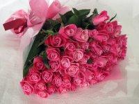 バレンタインローズ「ラブ パーマネント」(ピンク)50本