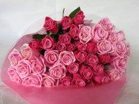 バレンタインローズ「ラブ パーマネント」(トリオ・ザ・ピンク)50本