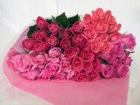 バレンタインローズ「ラブ パーマネント」(ピンク・クインテット)50本