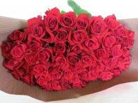 緑寿お祝いバラの花束(赤)66本