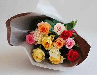 バレンタイン ダーズンローズ(6色ミックス)12本