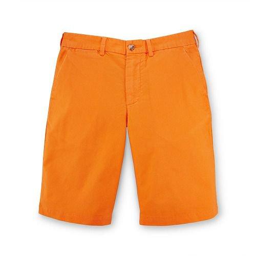 ポニー付・コットンオクスフォードハーフパンツ[オレンジ](ボーイズS~XL)