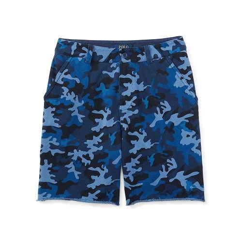カモコットン・テリー・ショートパンツ[ブルー](ボーイズS~XL)