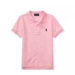 コットンメッシュ・半袖ポロシャツ[ピンク&ネイビー](男の子2〜7歳用)【ラルフローレン】