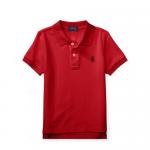 コットンメッシュ・半袖ポロシャツ[レッド&ネイビー](男の子2〜7歳用)【ラルフローレン】