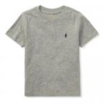 コットン・クルーネック・半袖Tシャツ[グレー](男の子2〜7歳用)【ラルフローレン】