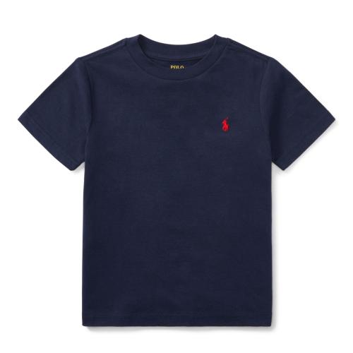 コットン・クルーネック・半袖Tシャツ[5色展開](男の子2〜7歳用)