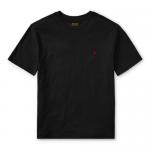 コットン・クルーネック・半袖Tシャツ[ブラック](ボーイズS〜XL)