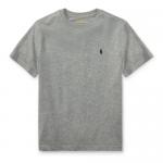 コットン・クルーネック・半袖Tシャツ[グレー](ボーイズS〜XL)【ラルフローレン】