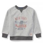 ダブルニット・グラフィック・セーター[グレー](男の子2〜7歳用)【ラルフローレン】