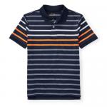 パフォーマンス・ストレッチ・半袖ポロシャツ[ネイビーマルチ](ボーイズS〜XL)【ラルフローレン】