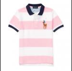 ビッグポニー・ストライプ・半袖ポロシャツ [ピンク](男の子2〜7歳用)【ラルフローレン】