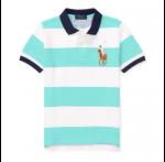 ビッグポニー・ストライプ・半袖ポロシャツ [ミントグリーン](男の子2〜7歳用)【ラルフローレン】