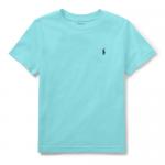 コットン・クルーネック・半袖Tシャツ[ライトミント](男の子2〜7歳用)【ラルフローレン】