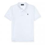 コットンメッシュ・半袖ポロシャツ[ホワイト&ネイビー](ボーイズS〜XL)【ラルフローレン】