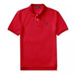 コットンメッシュ・半袖ポロシャツ[レッド&ネイビー](ボーイズS〜XL)【ラルフローレン】