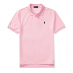 コットンメッシュ・半袖ポロシャツ[ピンク&ネイビー](ボーイズS〜XL)【ラルフローレン】
