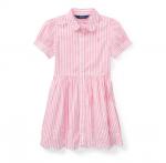 ストライプ・コットン・半袖シャツドレス[ピンク](女の子2〜7歳用)【ラルフローレン】
