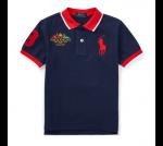 ビッグポニー・フラッグ・半袖ポロシャツ[ネイビー](男の子2〜7歳用)【ラルフローレン】