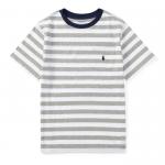ストライプ・コットン・半袖Tシャツ[グレーマルチ](ボーイズS〜XL)【ラルフローレン】