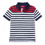 ストライプ・パフォーマンス・半袖ポロシャツ[レッドマルチ](男の子2〜7歳用)【ラルフローレン】
