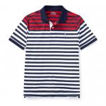 ストライプ・パフォーマンス・半袖ポロシャツ[レッドマルチ](ボーイズS〜XL)【ラルフローレン】