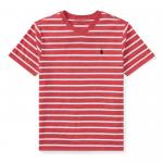 ストライプ・Vネック・半袖Tシャツ[レッド](ボーイズS〜XL)【ラルフローレン】