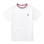 コットン・リンガー・半袖Tシャツ[ホワイト](男の子2〜7歳用)【ラルフローレン】
