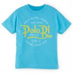 コットン・グラフィック・半袖Tシャツ[ターコイズ](男の子2〜7歳用)【ラルフローレン】