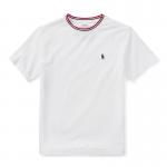 コットン・リンガー・半袖Tシャツ[ホワイト](ボーイズS〜XL)【ラルフローレン】