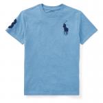 <img class='new_mark_img1' src='https://img.shop-pro.jp/img/new/icons34.gif' style='border:none;display:inline;margin:0px;padding:0px;width:auto;' />ビッグポニー・コットン・半袖Tシャツ[ソフトロイヤル](ボーイズS〜XL)【ラルフローレン】