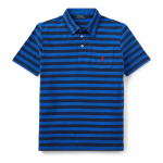 フェザーウェイト・コットンメッシュ・半袖ポロシャツ[ブルーマルチ](ボーイズS〜XL)【ラルフローレン】