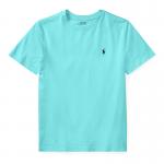 コットン・クルーネック・半袖Tシャツ[ライトミント](ボーイズS〜XL)【ラルフローレン】