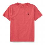 コットン・クルーネック・半袖Tシャツ[サーモンヘザー](ボーイズS〜XL)【ラルフローレン】