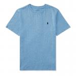 コットン・クルーネック・半袖Tシャツ[ソフトロイヤル](ボーイズS〜XL)【ラルフローレン】