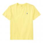 コットン・クルーネック・半袖Tシャツ[イエロー](ボーイズS〜XL)【ラルフローレン】