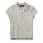 ストレッチ・メッシュ・半袖ポロシャツ[グレー](女の子2〜7歳用)【ラルフローレン】
