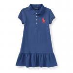 ビッグポニー・メッシュ・半袖ポロドレス[オールドロイヤル](女の子2〜7歳用)【ラルフローレン】