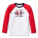 コットン・グラフィック・ラグラン長袖Tシャツ[ホワイト&レッド](ボーイズS〜XL)【ラルフローレン】
