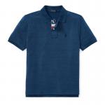 インディゴ・コットンメッシュ・半袖ポロシャツ[ミディアムインディゴ](ボーイズS〜XL)【ラルフローレン】