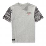 ヘンリーネック・コットン・半袖Tシャツ[ライトグレー](ボーイズS〜XL)【ラルフローレン】
