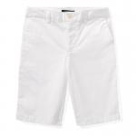 スリムフィット・ストレッチチノ・ショートパンツ[ホワイト](ボーイズS〜XL)【ラルフローレン】