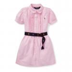 オクスフォード・半袖シャツドレス[ピンク](女の子2〜7歳用)【ラルフローレン】