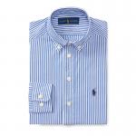 ストライプ・コットン・長袖ドレスシャツ[ブルー](ボーイズS〜XL)【ラルフローレン】