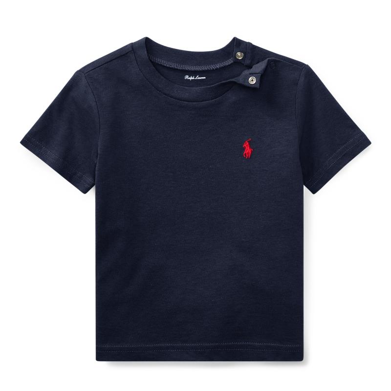 コットン・クルーネック・半袖Tシャツ[ネイビー](男の子12〜24か月用)【ラルフローレン】