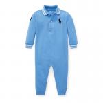 ビッグポニー・コットン・カバーオール[ブルー](男の子0〜9か月用)【ラルフローレン】
