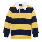 ストライプ・コットン・長袖ラグビーシャツ[イエロー](男の子2〜7歳用)【ラルフローレン】