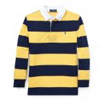 ストライプ・コットン・長袖ラグビーシャツ[イエロー](ボーイズS〜XL)【ラルフローレン】