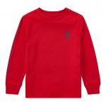 ビッグポニー・グラフィック・コットン長袖Tシャツ[レッド](男の子2〜7歳用)【ラルフローレン】